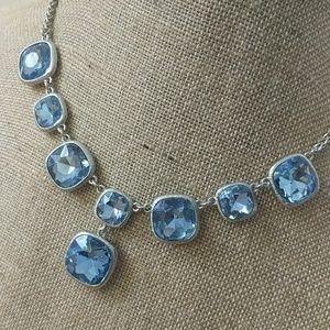 Jewelry - Necklace earrings set Aquamarine & Silver